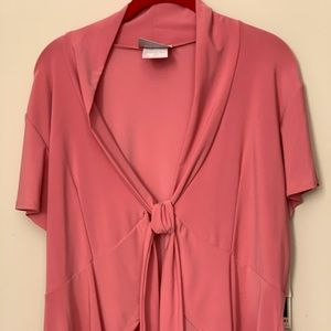 Soft structured front tie cardigan